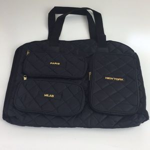 NWT SIGNATURE CLUB A QUILTED NYLON BAG VINTAGE